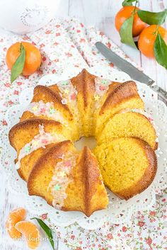 TORTA AL MANDARINO (SOFFICE SENZA BURRO) Sweet Recipes, Snack Recipes, Cooking Recipes, Biscotti, Nutella, Pineapple, Food And Drink, Chips, Peach
