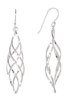 963216f72062 Argento Vivo - Sterling Silver Twisted Drop Earrings Joyería Plata De Ley