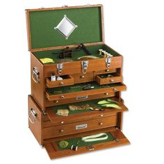 Fly Tying Box - Gerstner Red Oak Box -- Orvis on Orvis.com!