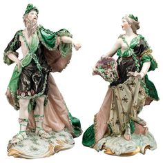 1765 Frankenthal Figures Oceanos and Thetis by F. C. Linck