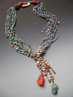 """Fulani"" Antique Nigerian glass seed beads, Fulani Tribe, antique pre-Columbian…"