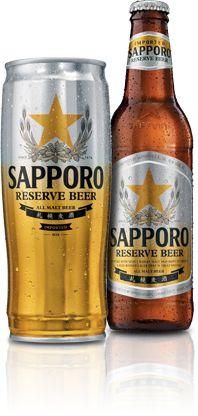 Cerveja Sapporo Reserve, estilo Premium American Lager, produzida por Sapporo, Japão. 5.2% ABV de álcool.