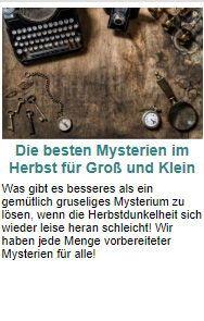 Die besten Mysterien im Herbst für Gross und Klein. #mysterien #partyspiele #grapevine