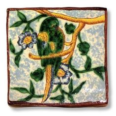 The tile is entirely handmade and hand painted in Caltagirone by Giacomo Alessi, one of the most relevant ceramic artists in Italy.