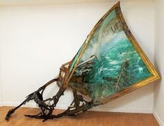 SPOTLIGHT: Valerie Hegarty's Alternative Histories Truly breathtaking. NYC-based artist Valerie Hegarty's artwork often poses as artifacts of art history gone awry. [[MORE]] Ravaged paintings, melting. Decay Art, A Level Art, Art Design, Art Plastique, Oeuvre D'art, Installation Art, Unique Art, Niagara Falls, Les Oeuvres