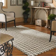 awesome Uttermost Bengal Jute Rug in Olive Gray and Cream-5 ft X 8 ft