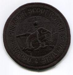 Boy Scout Philmont Black Rectangular Patch