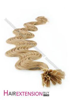 "16"" #14 Body Wave Nail Tip Human Hair Extensions [NRHBWH1614]"