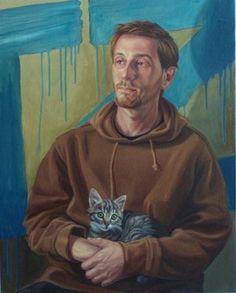 """""""Tom Zehnder"""" (oil on canvas) by Dana Van Horn. An exhibit of Van Horn's work is on display at Penn State Lehigh Valley."""