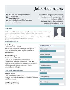 Resume Templates Free Glimmer  Free Resume Templatehloom  Projects To Try