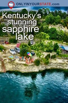 Travel | Kentucky | Attractions | Sapphire Lake | Natural Wonders | USA | Places To Visit | Day Trips | Things To Do | Road Trips | Falling Rock Park | Quarry | Scenic | Kentucky Lakes #TravelDestinationsUsaPlacesToVisit