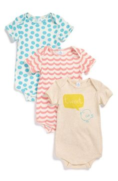 Free shipping and returns on Stem Baby Organic Cotton Bodysuits (Set of 3) (Baby) at Nordstrom.com. Envelope sleeves lend over-the-head ease to a trio of supersoft bodysuits cut from pure organic cotton.