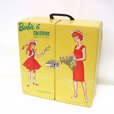 Mod Barbie Carrying Case / 1960s Mattel Barbie Tote by WhimzyThyme