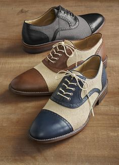 The Holbrook Linen Cap Toe.