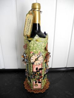 Lovely gift bottle holder.