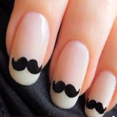 date a girl with mustache nails lmao @Kimberly Whitesel i feel like you'll appreciate these