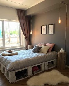 31 Amazing Pallet Bedroom Design Ideas 31 Amazing Pallet Bedroom Design Ideas All About Home Decor The post 31 Amazing Pallet Bedroom Design Ideas appeared first on Pallet Diy. Room Ideas Bedroom, Small Room Bedroom, Home Bedroom, Bedroom Decor, Bedrooms, Pallet Ideas For Bedroom, Warm Bedroom, Bedroom Storage, Bedroom Designs