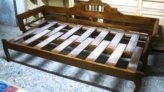 sofá-cama de madera