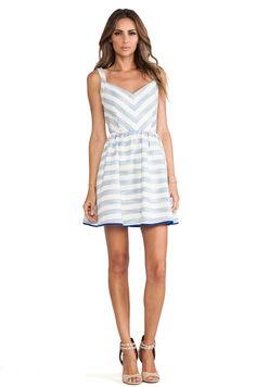 Line  Dot Kelly Dress in Sky Stripe