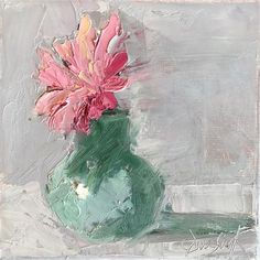 "Daily Paintworks - ""Pink"" - Original Fine Art for Sale - © Carol Josefiak"