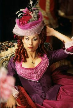 "Carlotta in ""Phantom of the Opera."" Such detailed and elaborate outfits. Inspired the Prima Donna headband, from the Cinema Collection"