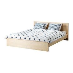 Nyvoll Bed Frame Ikea The Angled Headboard Allows You To Sit
