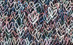 Street Art in Venice, LA. - Jestem w lesie Painting Patterns, Venice, Street Art, Neon Signs, Black And White, Words, Black N White, Venice Italy, Black White