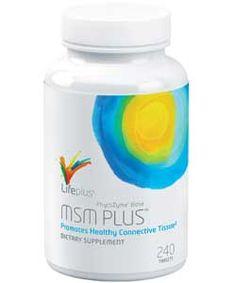 Lifeplus - Steffen Schojan - MSM Plus  Was ist MSM ? Organischer Schwefel (Methylsulfonylmethan)  MSM ist die natürliche vorkommende Form von Schwefel, die auch in unserem körpereigenen Gewebe anzutreffen ist. MSM kann dabei helfen ein gesundes Bindegewebe, wie Sehnen, Bänder und Muskeln zu erhalten. Es wird empfohlen MSM aufgrund der physiologischen Wirkung und seiner indirekten Wichtigkeit als sehr wichtigen Bestandteil Ihrer Ernährung anzusehen.