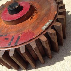 Antique Industrial Cart Wheel Foundry Pattern Mold
