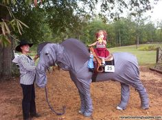 Is there seriously a horse inside this elephant suit? Costume class taken a wee bit too far in my book!