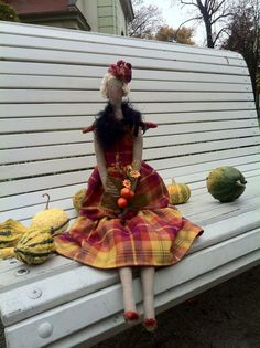 Angel Tilda Doll Autum Princess Fall by RoyalHandicrafts on Etsy