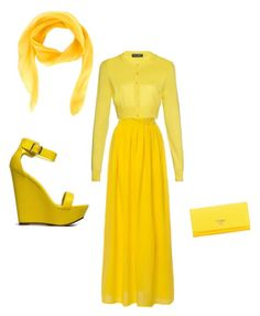 """""""yellow"""" by horsecrazy7 ❤ liked on Polyvore featuring beauty, Dolce&Gabbana, Breckelle's, Prada and Christian Dior"""
