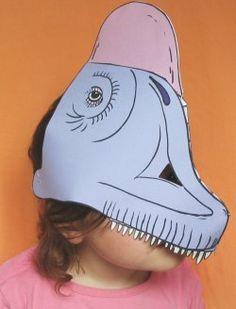 Masque de dinosaure: le brachiosaure