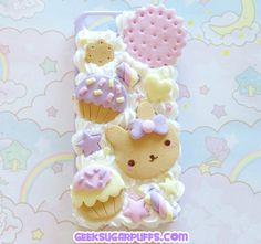 Kawaii Decoden Phone Case Iphone 5 by GeekSugarPuffs on Etsy, $29.80