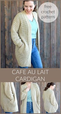 Cafe au Lait Cardigan Crochet Pattern | Hooked on Homemade Happiness