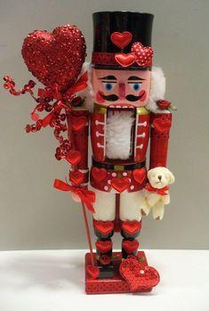 Nutcracker Christmas Decorations, Nutcracker Ornaments, Valentine Decorations, Valentine Day Wreaths, Valentine Crafts, Pink Christmas, Christmas Crafts, Christmas Ideas, Nutcracker Image