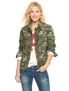 Printed utility jacket | Gap