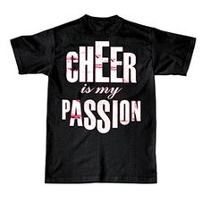 CT218-BLK Cheer is my Passion T-Shirt    http://www.halftee.com
