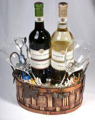 Simple DIY wine gift basket
