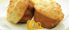 Light and Lemony Muffins. Discover our recipe rated by 12 members. Muffin Recipes, Bread Recipes, Breakfast Recipes, Dessert Recipes, Breakfast Dessert, Biscuit Cupcakes, Cupcake Cakes, Muffins, Desserts With Biscuits