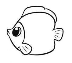 how to draw a simple fish