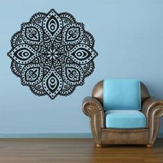 2015 Yoga Mandala Om Indian Buddha Symbol Mehndi Wall Decal Home Decor Wall Sticker $25.49