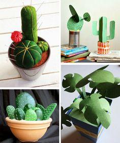 DIY Flowers and cactus round-up tutorials 10+