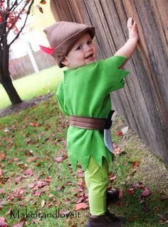 Disfraz casero de Peter Pan para bebés y niños
