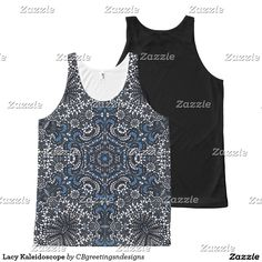 Lacy Kaleidoscope All-Over Print Tank Top