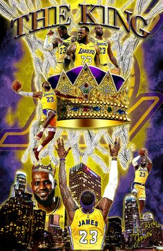 """The King"" Lebron James - Flatpins. Kobe Bryant Lebron James, King Lebron James, Lebron James Lakers, King James, Neymar, Messi, Lebron James Wallpapers, Nba Wallpapers, Mvp Basketball"