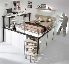 Storage bed - love this!! Too cool