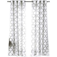 Let this sheer, quatrefoil-burnout curtain frame a picture window, or drape it in a doorway for laid-back elegance.  Product: Se...