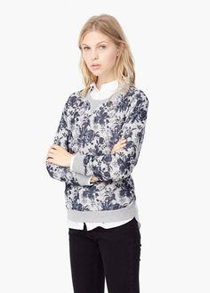 Cotton sweatshirt | MANGO