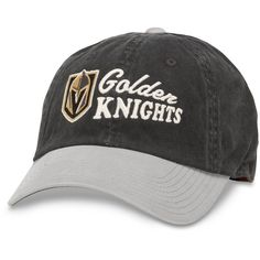 Vegas Golden Knights American Needle Dyer Unstructured Adjustable Hat –  Black Gray 6d13174a0fa5